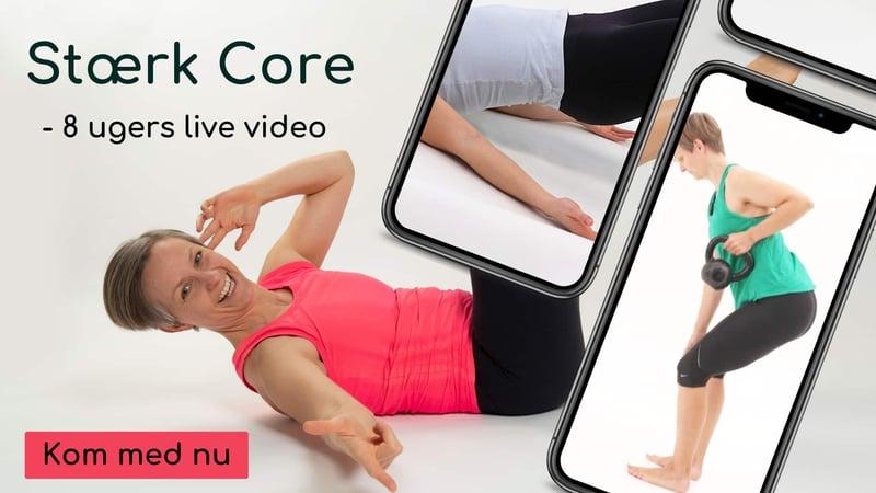stærk core - 8 uger live online
