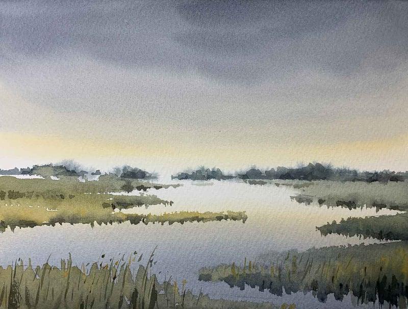 Uffe-Boesen-Akvarel-natur-maleri
