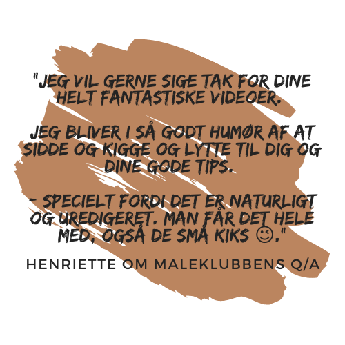 Henriette om Maleklubbens Q/A