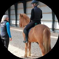 Undervisning ved Dagmars Hestetræning